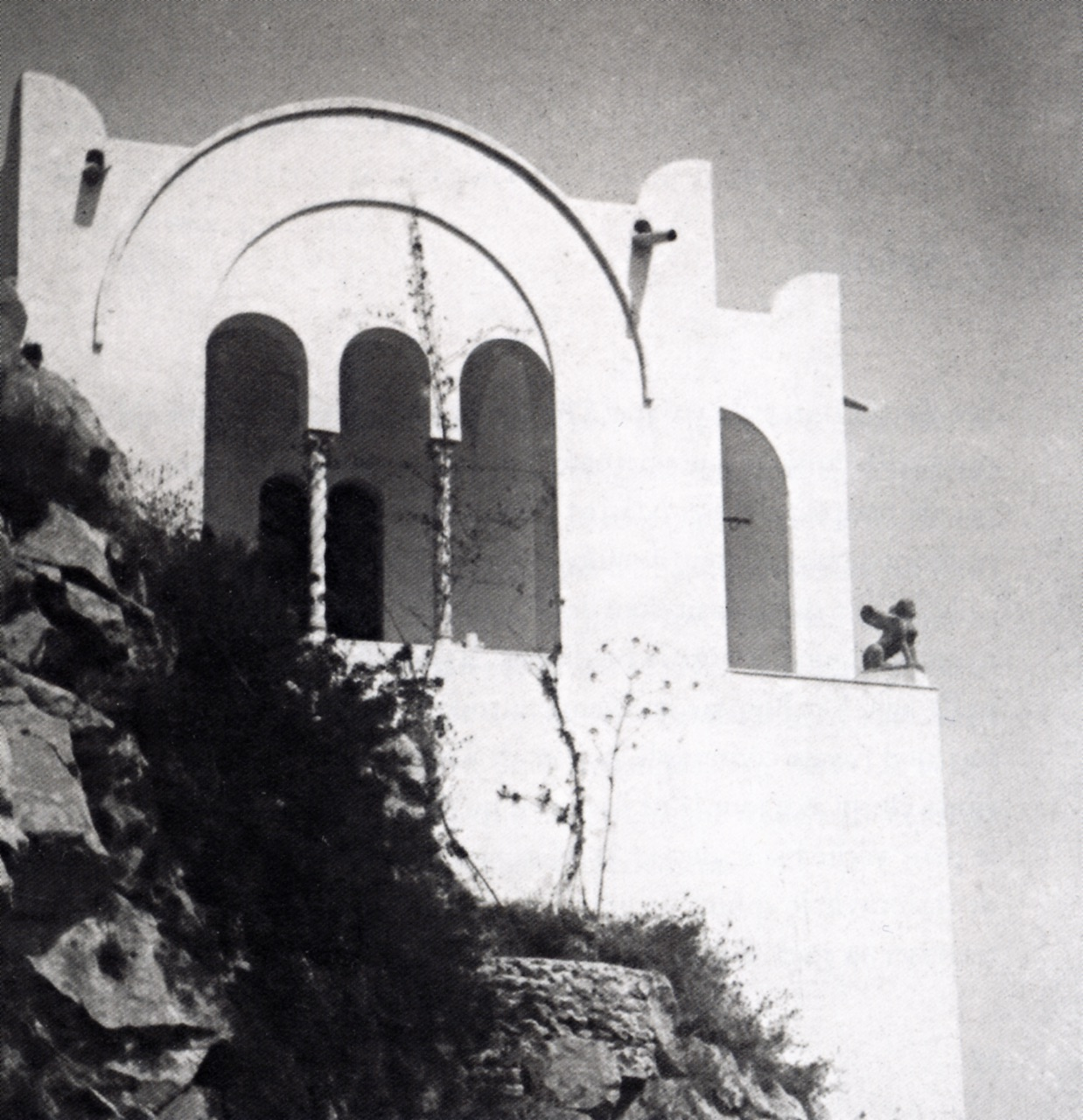 The chapel of Villa San Michele with the Etruscan Sphinx